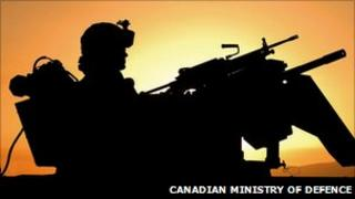 A Canadian soldier in Afghanistan