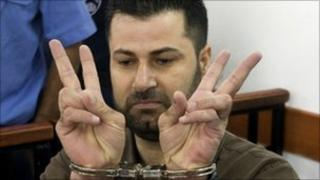 Abdallah Abu Rahma in an Israeli military court - 11 October 2010