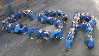 Schoolchildren from the initials 'CSR'