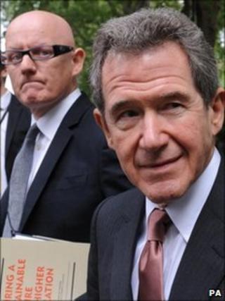 Lord Browne with his media advisor David Yelland