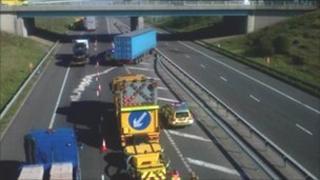 Crash on the M65