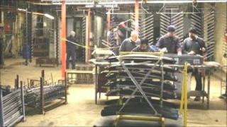 The workshop of a UK-based car-parts metal finishing company