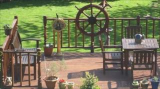 Thieves steal maritime objects from a garden in Holywell, Flintshire