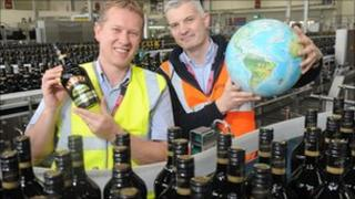Plant manager Michael Hailes and shift manager Manus Rogan at the Baileys bottling plant in Mallusk