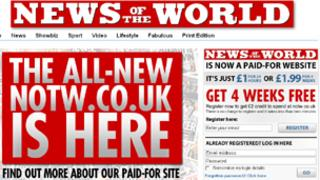 News of the World website