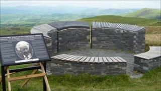 The restored Wynford Vaughan Thomas memorial