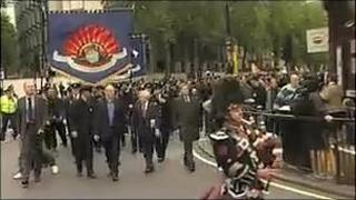 Firefighters march in London