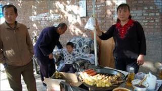 Stallholder Liu Qingye