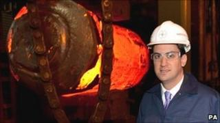 Ed Miliband at Forgemasters plant