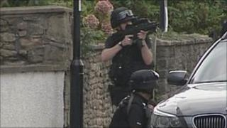Armed police in Wells 14 Oct 2010