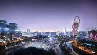 Artist's impression of Olympic Park. Photo: Olympic Park Legacy Company/PA