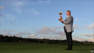 Colin Montgomerie with the Ryder Cup