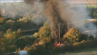 Industrial unit fire