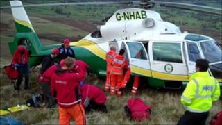 Paraglider rescue