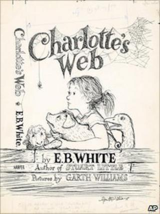 Original 1952 cover of Charlotte's Web