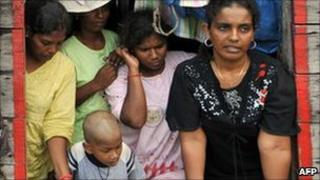 Sri Lankan asylum-seekers on board their boat stopped by Indonesian authorities on their way to Australia (2009)