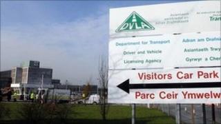 Entrance to DVLA in Swansea