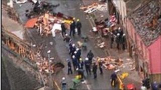 Omagh bomb scene