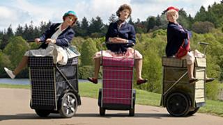 Shopping trolley formation dance team Granny Turismo