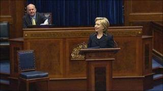 Hilary Clinton at Stormont