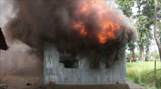 House on fire in Garati