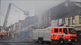 Fire on King Street, Blackburn
