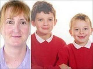 Heather Bickley and sons Felix and Oscar