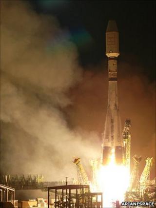 Soyuz launch (Arianespace)