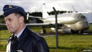 RAF Kinloss station commander Group Captain James Johnston