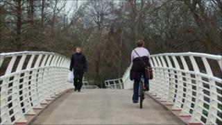 Sophia Gardens' bridge, Cardiff