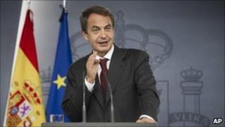 Spanish Prime Minister Jose Luis Rodriguez Zapatero. Photo: 20 October 2010