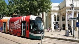Tram in Nottingham