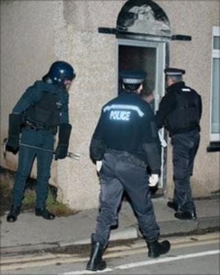 Police raid in Sittingbourne