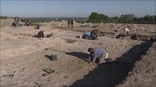 The archaeological dig at Winchester