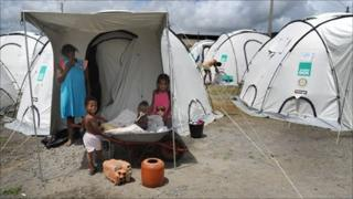 Agua Preta's homeless are also being housed in camps dotted around the town