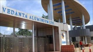 Vedanta aluminium refinery at Lanjigarh, Orissa's Kalahandi district