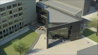 Artist's impression of new City of Bath College building