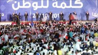 Rally for candidates of the Shia opposition al-Wifaq Party in Manama, Bahrain - 20 October 2010