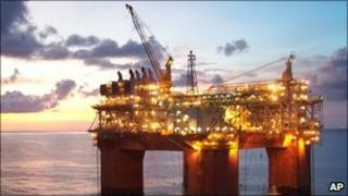 Deep water oil rig in the Gulf of Mexico (file photo)