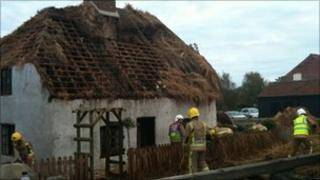 Thatch removed from fire-hit museum