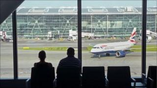 Passengers at Heathrow Terminal 5