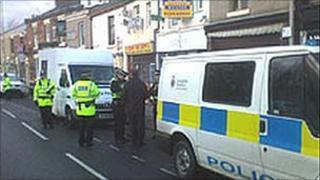 The scene of the shooting in Blackburn