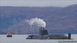 HMS Astute off Skye. Pic: Ron Miller