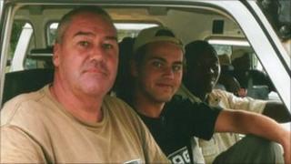 Stephen Allan with his son David Allan