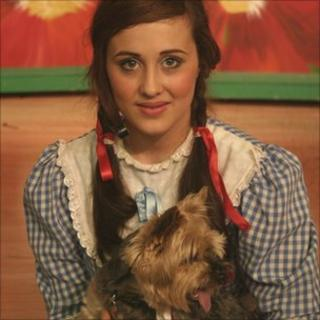 Andrea Franklin and doggie linguist Rosie played Dorothy and Toto