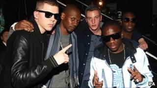 (Left-right) Professor Green, Giggs, Devlin, Tinchy Stryder and Tinie Tempah