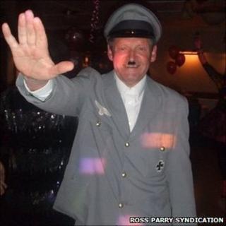 Mike Gardner in Hitler costume