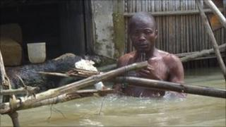 Benin flood victim