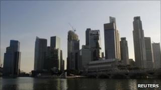 Singapore financial district