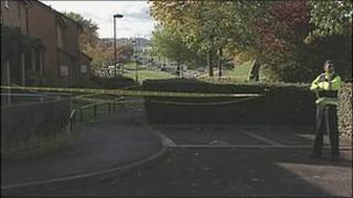 The scene where the body was found